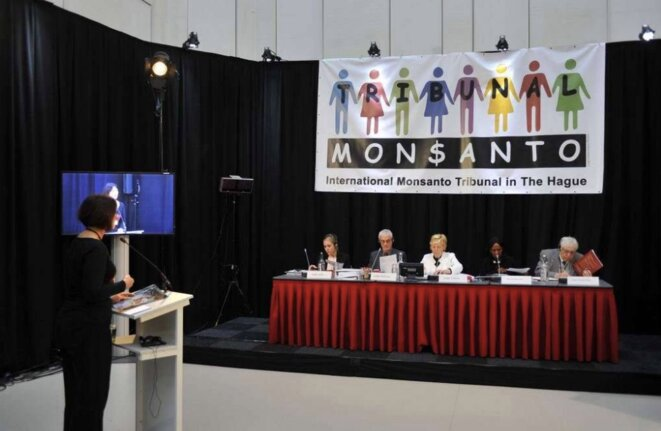 Ouverture du procès samedi 15 octobre 2016 à La Haye. © Tribunal Monsanto. G. De Crop.