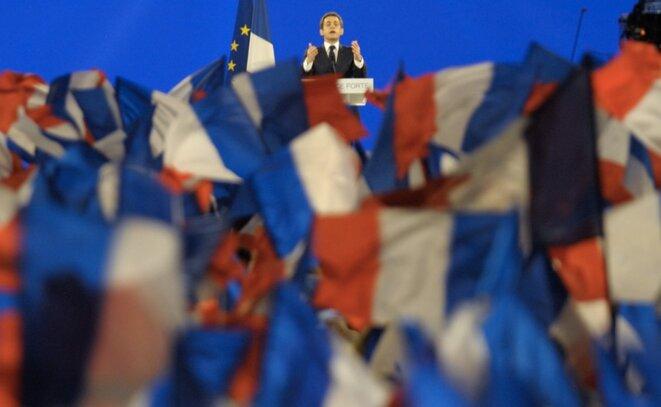Nicolas Sarkozy en meeting en 2012 © Reuters