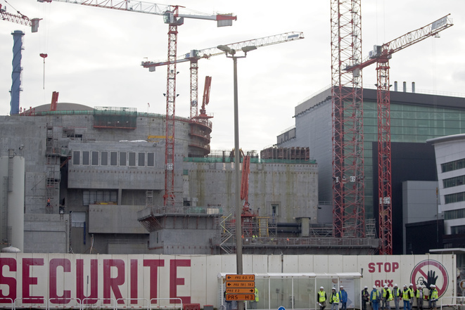 Le chantier de l'EPR à Flamanville, en janvier 2013. © Reuters.