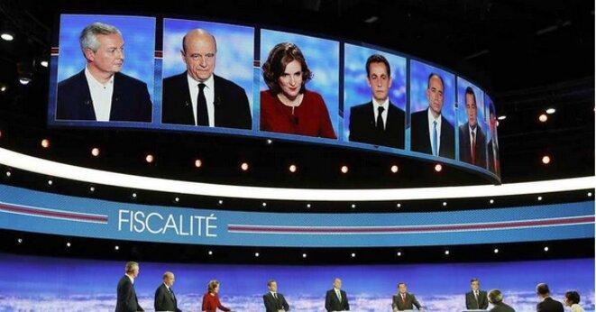 Débat des candidats à la primaire de droite le 13 octobre. © capture d'écran TF1