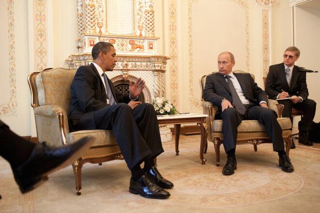 Obama et Poutine en 2009, quand le premier envisageait encore de meilleures relations avec le second. © Pete Souza/Maison Blanche