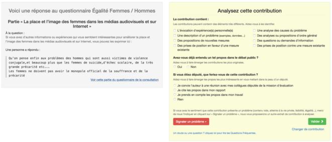 Exemple de questionnaire proposé aux rapporteurs citoyens pour analyser une contribution