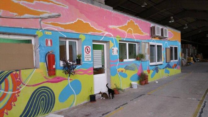 Locaux de l'usine VIOME partagés avec le Dispensaire Social et Solidaire