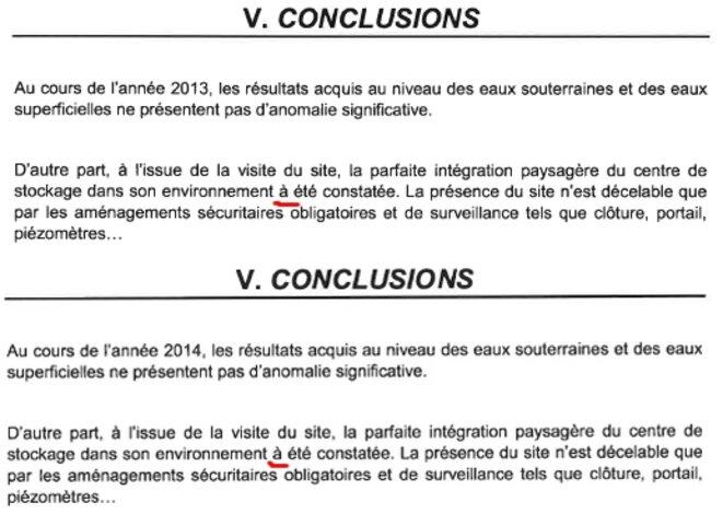 Extraits conclusions des rapports 2013 et 2014 de Sita Centre est