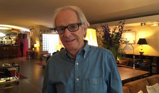 Ken Loach, au cinéma du Panthéon, à Paris, le 13 octobre 2016. © Jade Lindgaard