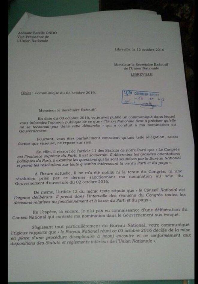 lettre-de-mme-estelle-ondo-ministre-de-l-economie-forestiere-de-la-peche-et-de-l-environnement-au-parti-un-001