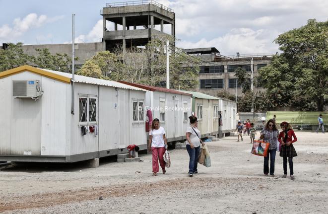 Le camp d'Eleonas, au milieu d'une zone industrielle agonisante © Carole Reckinger