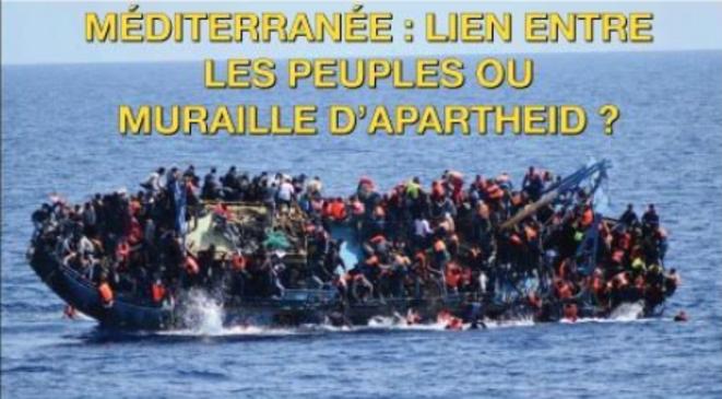 Méditerranée : lien entre les peuples ou muraille d'apartheid ? © Affiche de l'événement