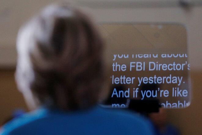 Hillary Clinton évoque l'affaire des emails dans un discours le 30 octobre 2016 © Reuters