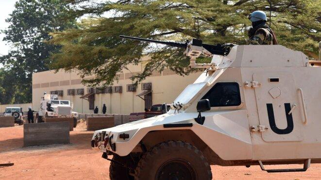 Une patrouille des Casques bleus à Bangui le 2 janvier 2016 © Issouf SANOGO
