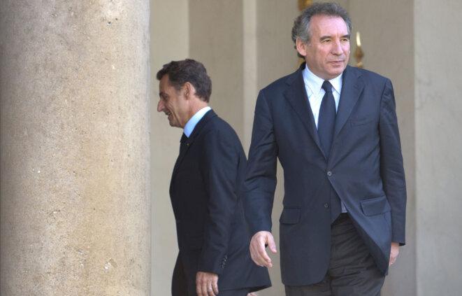 Nicolas Sarkozy et François Bayrou à l'Élysée, en 2009.