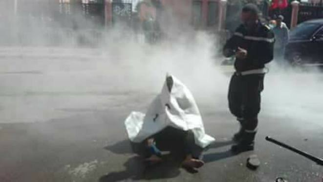 Abdeslam Salihi tente de s'immoler par le feu © DR