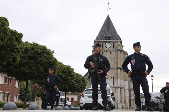 Saint-Étienne-du-Rouvray, après l'attentat © Reuters
