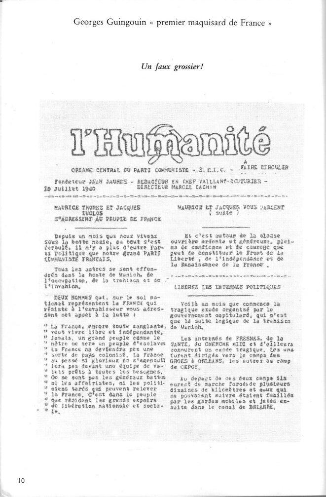 fausse-une-de-l-humanite-clandestine-10-juillet-1940