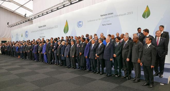 Délégations d'états lors de la COP21 à Paris en 2015