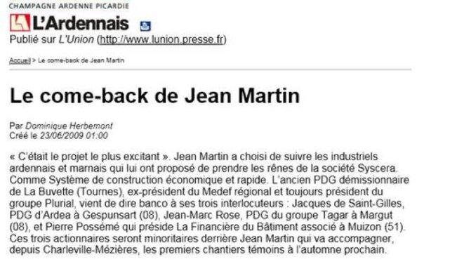 L'entrée en scène de Jean Martin
