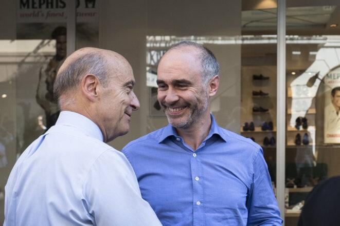 Alain Juppé et Gilles Boyer. © Édouard Élias/H&K