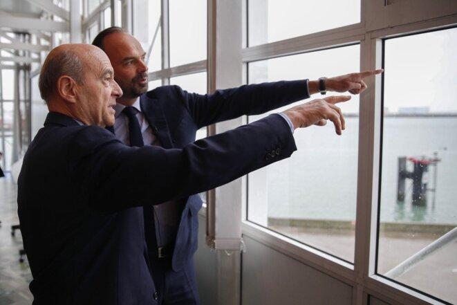 Alain Juppé et Édouard Philippe au Havre, le 12 novembre. © Twitter/@alainjuppe