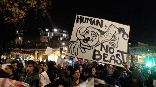 Manifestation Avenue de Flandres le 2 novembre 2016 © NJ