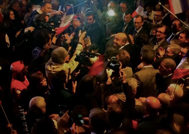 Entrée d'Alain Juppé au Zénith de Paris, le 14 novembre. © ES