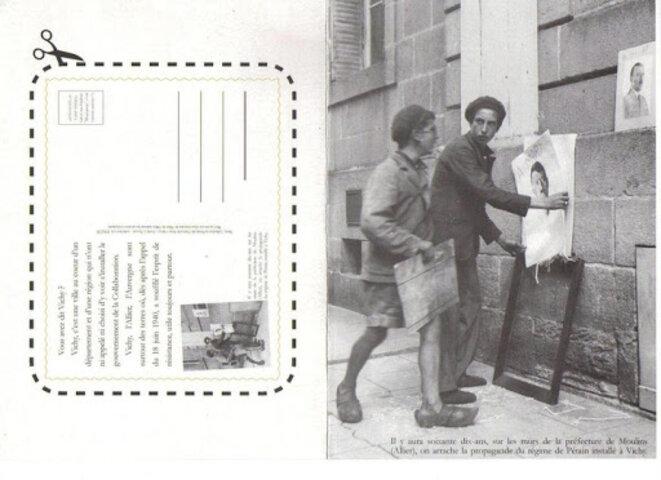 La carte postale pour le respect de la Ville de Vichy (recto) © Gérard Charasse, Député de l'Allier