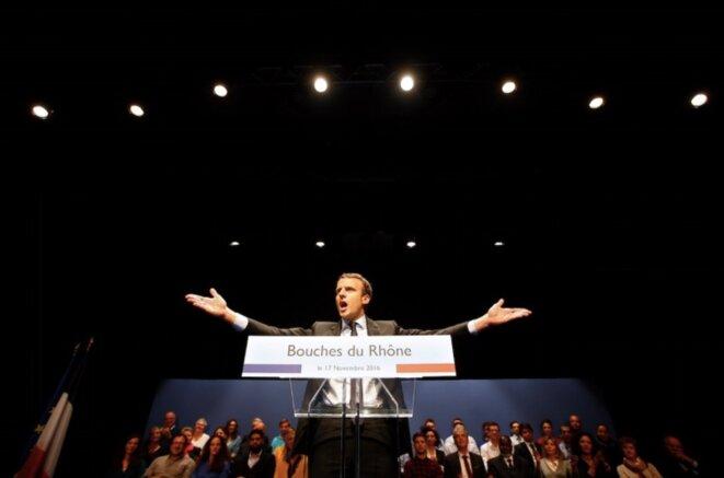 Emmanuel Macron, jeudi 17 novembre 2016 à Marseille © Reuters