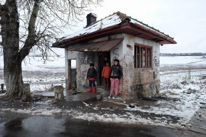 Une maison rom dans la région de Sibiu novembre 2016 © Philippe Simon