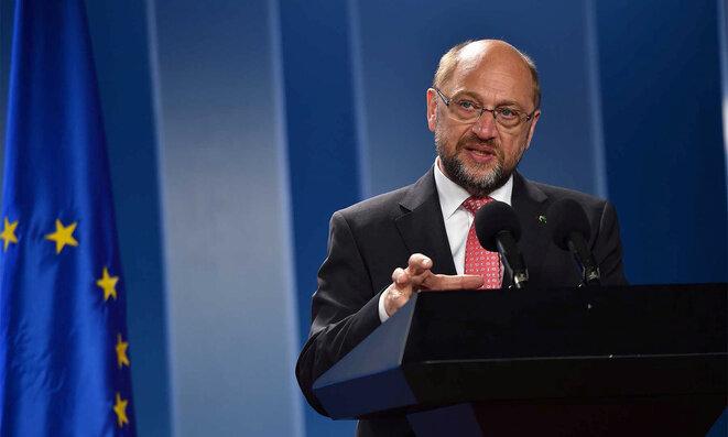 Martin Schulz, durante un viaje a Bogotá, Colombia, el 23 de agosto de 2016. © Reuters