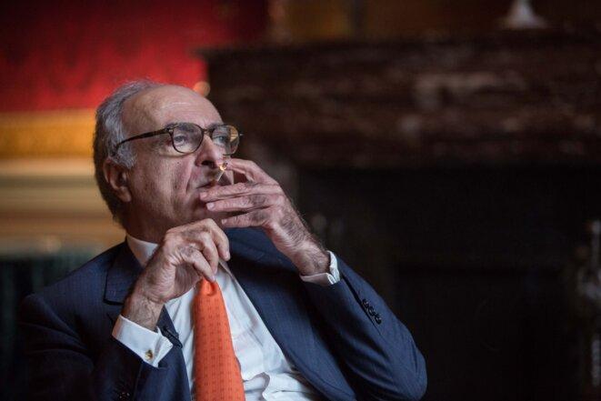 Ziad Takieddine, le 12 novembre 2016, dans son appartement parisien. © Pedro Da Fonseca/Premières Lignes