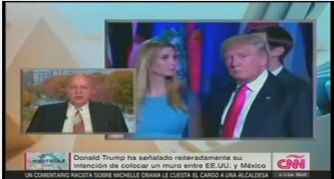 John Negroponte en duplex avec Carmen Aristegui, sur CNN © CNN