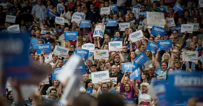 Rassemblement pour Bernie Sanders à Madison (Wisconsin) © Getty