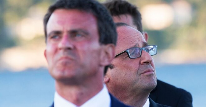 Manuel Valls et François Hollande © Reuters