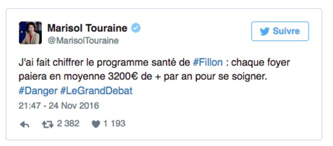 Le tweet de Marisol Touraine