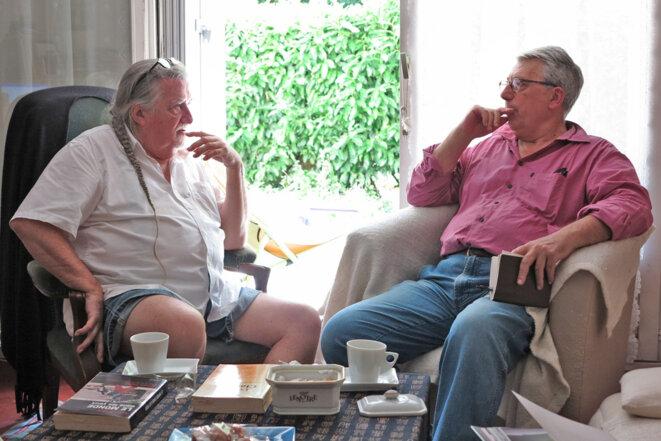 Hugues Vassal s'entretient avec Michel Puech © Solène Vassal