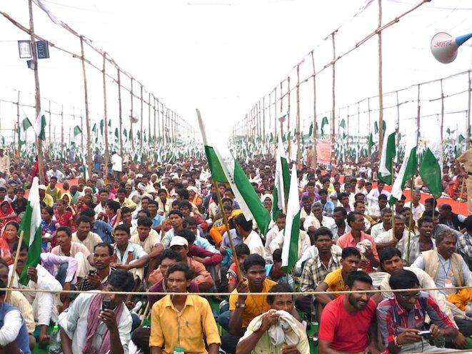 Début de la Jan Satyagraha, Gwalior, oct. 2012, cc BJ