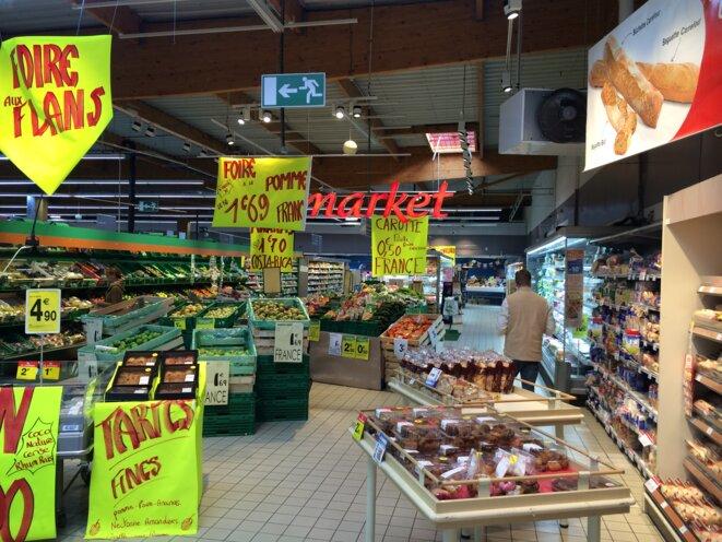 Le supermarché Carrefour Market d'Ingré dans les locaux loués par la famille Beulin © KL
