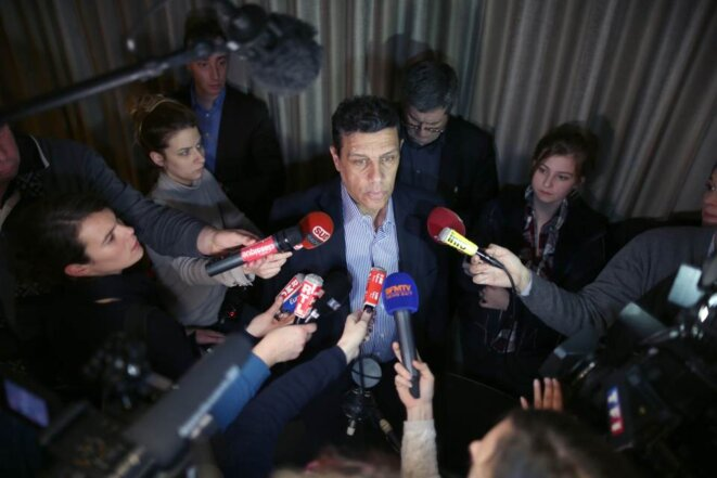 Xavier Beulin face à la presse en 2016 © Reuters
