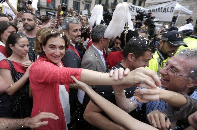 Ada Colau le jour de son investiture en tant que maire de Barcelone.