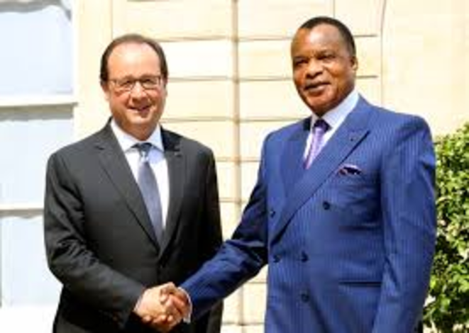 Hollande / Sassou