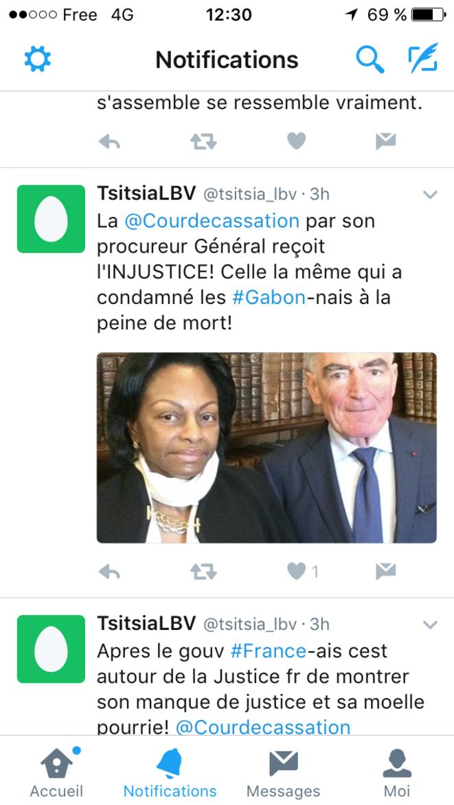 Capture d'écran Twitter
