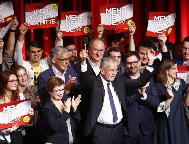 Alexander Van der Bellen, au soir de son élection. © Reuters