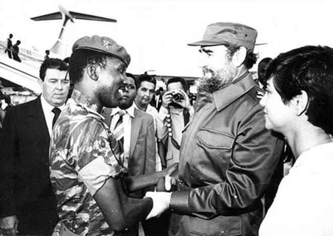 Fidel Castro reçoit Sankara à la Havane en septembre 1984