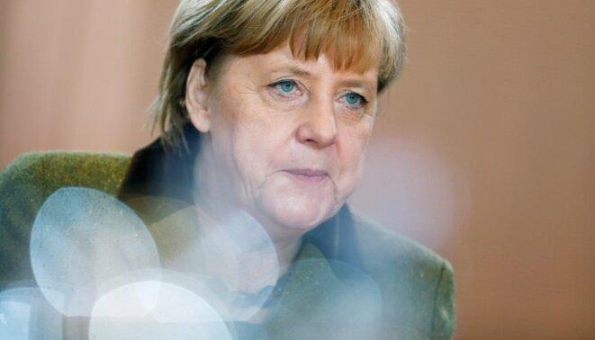Angela Merkel à la Chancellerie, à Berlin, le 30 novembre 2016. © REUTERS