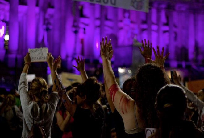 Le 3 juin 2015, lors de la manifestation #NiUnaMenos à Buenos Aires © Colectivo La Luz