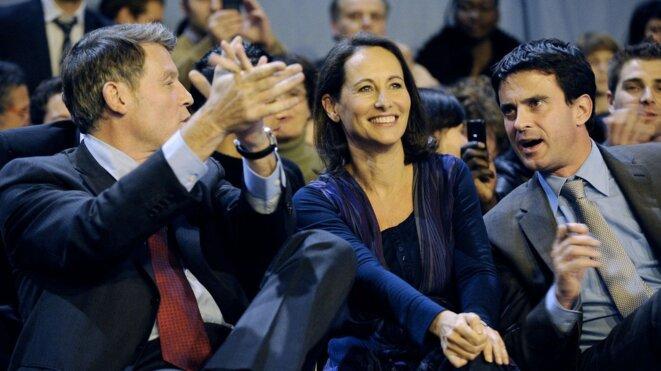 Vincent Peillon, Ségolène Royal et Manuel Valls, lors du congrès de Reims en 2008 © Reuters