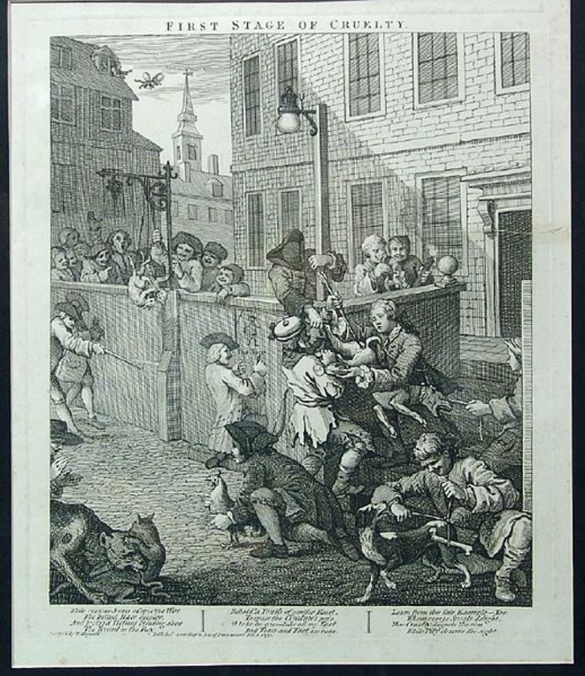 Extrait de William Hogart, « The four stages of Cruelty », recueil d'estampes (1751) © DR