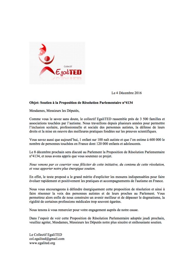 Egalited - Soutien à la proposition de résolution parlementaire 4134 © ML