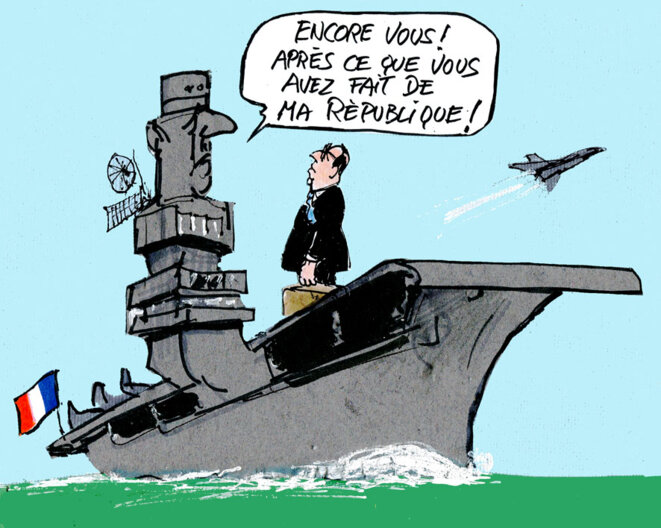 Hollande bord du porte avions charles de gaulle le club de mediapart - Porte avions charles de gaulle journal de bord ...