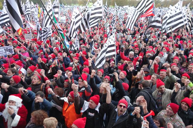 Manifestation des Bonnets rouges à Carhaix en décembre 2013 © Rachida El Azzouzi