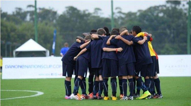 Lors de la Danone cup, compétition pour les moins de 12 ans © DR